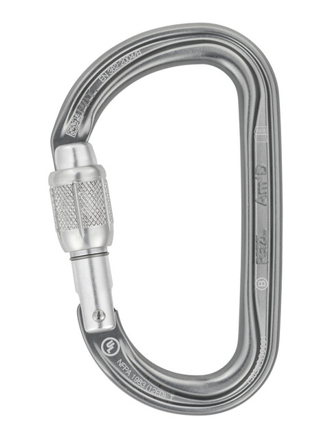 Petzl Am'D Sulkurengas Screw-Lock , harmaa